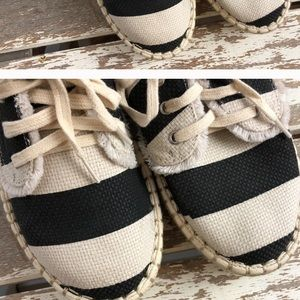 DV black and white stripes espadrilles size 9.5.